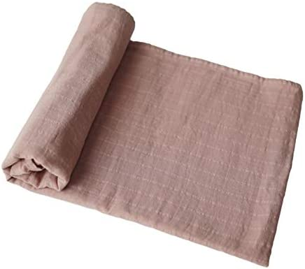 mushie Muslin Baby Swaddle Blanket 100 Organic Cotton Natural product image
