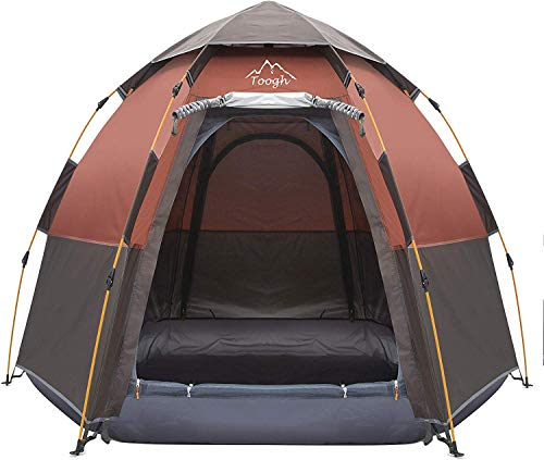 Toogh 2-3 Person Camping Tent Backpacking Tent Automatic Instant Pop...