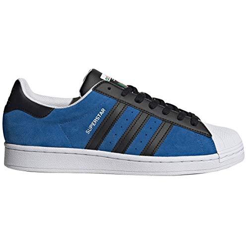 adidas Originals Superstar Mens Casual Fashion Sneaker Fu9523, azul (Azul/Negro/Blanco), 44 EU