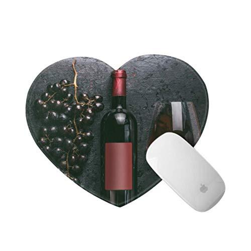Alfombrilla para ratón con Botella de Vino y UVA en la Mesa...