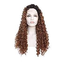 XinLin Du ヨーロッパやアメリカで氏レースフロントかつらの長い巻き毛のかつら (Color : 18 inches)