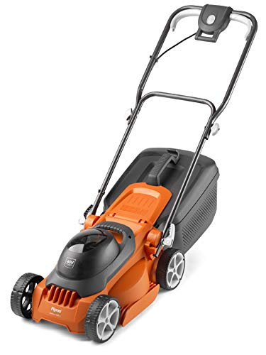 Flymo EasiStore 300R Li Cordless Rotary Lawn Mower - 40 V Battery (20 V x 2 Including Charger), 30 cm Cutting Width, 30 Litre Grass Box, Close Edge Cutting, Rear Roller, Space Saving Storage Features