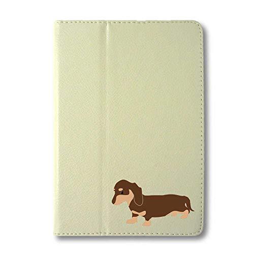 ダックスフンド チョコ&タン タブレットケース iPad 手帳型 iPad Pro 10.5 Air3 ホワイト 犬 柴犬 黒柴 日本犬 ペット 動物 アニマル タブレットカバー タブレット ブック型 iPadPro10.5 iPadAir3 アイパッド