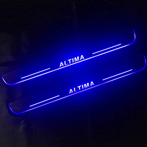 Luffa elves para Nissan Altima 2015 2016 2017 2018 Luces Led, Protector De Umbral, DecoracióN, Huella De Pie, Puerta Decorativa, Umbral De Coche, Tira De ProteccióN