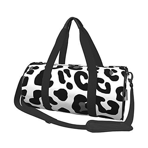 MBNGDDS - Borsone da viaggio con stampa leopardata, leggero, pieghevole, impermeabile, con tracolla, per sport e palestra, per uomini e donne, Come mostrato, Taglia unica,