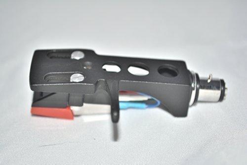 Schwarz Plattenspieler-Headshell-Halterung mit Patrone für Soundlab DLP 1600, Gb 056 Lenco L450, L80 usb, L3807 Plattenteller