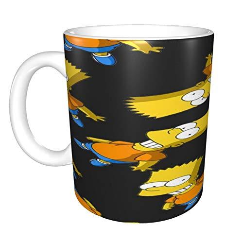 Simpsons - Taza de café de cerámica de 325 ml, divertida, sarcasmo, motivacional, regalo de cumpleaños inspirador para amigos, compañeros de trabajo, hermanos