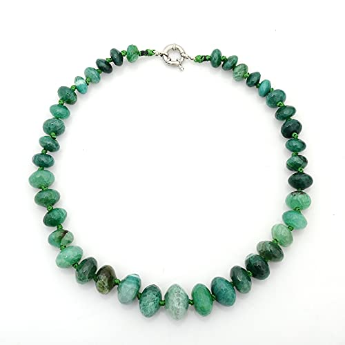 ZhaoZZ Collares Mujer Joven, Cornalina Colgante, Collar De Perlas De Ángulo De Corte De Ágata, Piedra Natural, Colgante De Cristal De Piedra Cruda (Color : Green, Size : 1PCS)