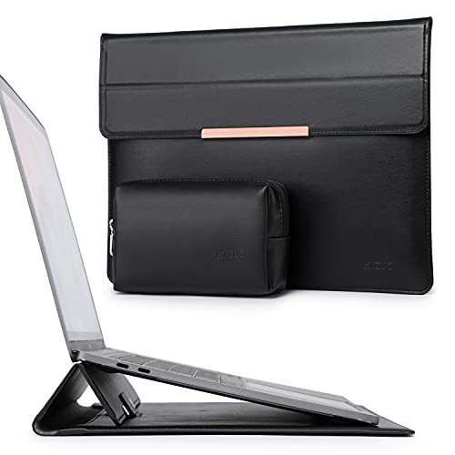 HYZUO 13 Zoll Laptop Hülle Lammleder Laptophülle mit Standfunktion Compatibel mit MacBook Air 13 2018-2020 M1/MacBook Pro 13 2016-2020 M1/iPad Pro 12,9 2018 2020/Dell XPS 13/Surface Pro X 7 6 5 4