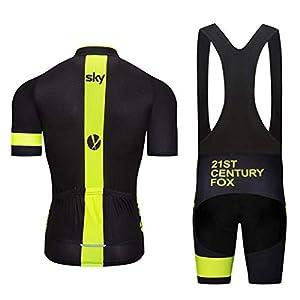 ZHLCYCL Conjunto Ropa Equipacion, Ciclismo Maillot y Culotte Pantalones Cortos con 5D Gel Pad para Verano Deportes al Aire Libre Ciclo Bicicleta, SK-4Black, M