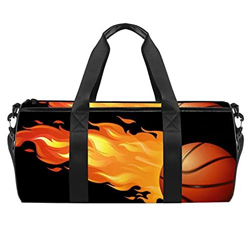 Bolsa de deporte de baloncesto para hombres y mujeres, bolsa de viaje con bolsillo impermeable