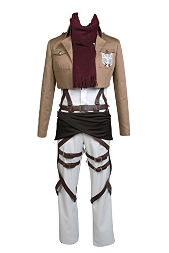 Jeylu Disfraz Shingeki no Kyojin Attack on Titan Mikasa Ackerman Cosplay (talla UE)