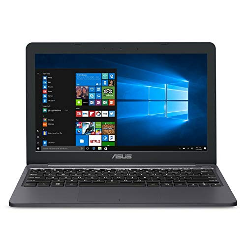 ASUS VivoBook L203MA (L203MA-DS04) Laptop, 11.6' HD Display, Intel Celeron N4000 Upto 2.6GHz, 4GB RAM, 64GB eMMC, HDMI, Card Reader, Wi-Fi, Bluetooth, Windows 10 Home S - (Aluminum Blue)