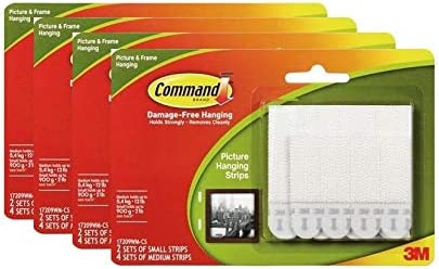 Ranking TOP6 Command Heavy Duty White Picture Strips Value Jacksonville Mall Pack Hanging Smal