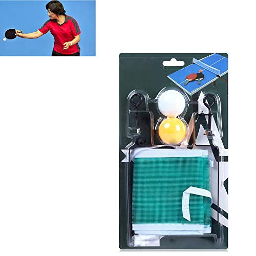 1Set Tabelle Retractable Ping Pong Net Tragbarer Tischtennis Net-Rack Retractable Tischtennis Nets mit 2 Schläger und 1 Paar Netto-Racks Portable für Speisetisch, Büro-Schreibtisch, Home Küche