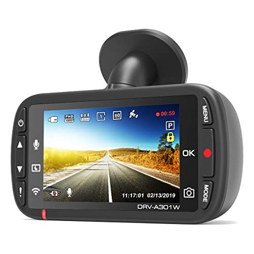Kenwood DRV-A301W Full HD Dash Cam with 3-Axis G-Sensor, GPS and Wireless Link + 16GB Micro SD Card