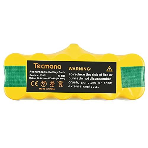 Tecmana Batería de 14,4V 4,5Ah Compatible con Roomba 500 600 700 800 Series