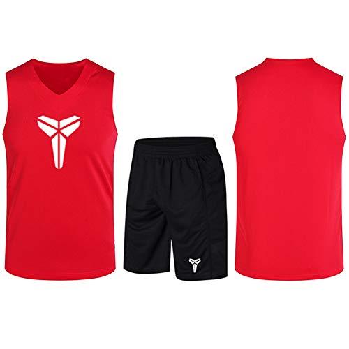 Haoshangzh55 Jerseys De Baloncesto/Kobe Bryant Gran Traje De Entrenamiento Estándar Deportes Y Ocio Fitness Transpirable Chaleco Sin Mangas,Rojo,3XL