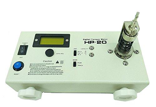 Huanyu Medidor digital de par de torsión HP-20 Medidor de torsión Destornillador Llave Medidor Probador con certificado de calibración