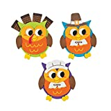 Owl Thanksgiving Foam Magnets Craft Kit -12 - Crafts for Kids and Fun Home Activities
