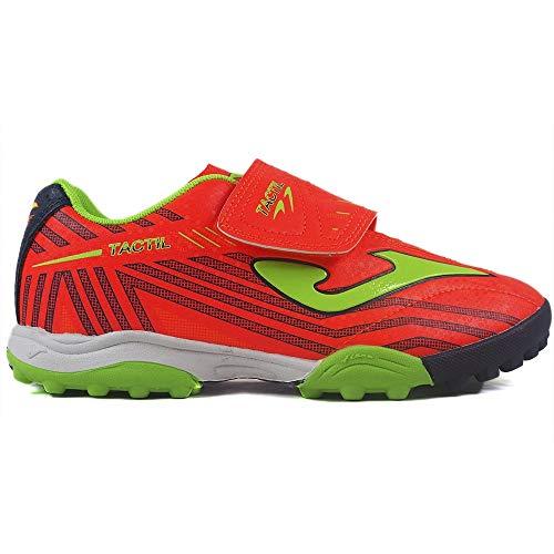 Joma Tactil Jr 907 Coral Turf voetbalschoenen voor kinderen en jongeren, koraal, maat 31