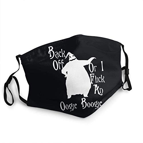 Face Cover,Mouth Cover,Back Off Oogie Boogie Washable Outdoor Nose Face Mask for Adults and Kids Black