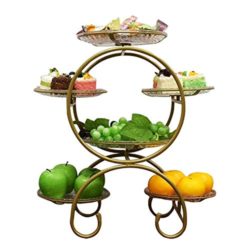 JYV Cesta De Frutas Titular Decorativo Cuenco Soporte Basket Vegetal Placa Hierro Forjado Creativa del Plato De La Bandeja, Cuenco Tamaño: Pequeño
