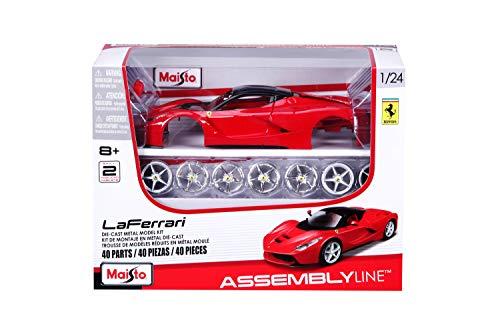 """Maisto 58108639129 - Modellino da costruire, Ferrari """"LaFerrari"""", scala 1:24, Nero/Rosso"""