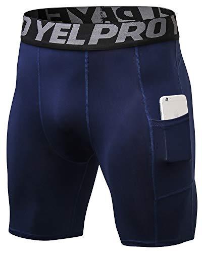 Shengwan Pantalones Cortos de Compresión Hombre Térmicos Correr Gimnasio Mallas Cortos con...