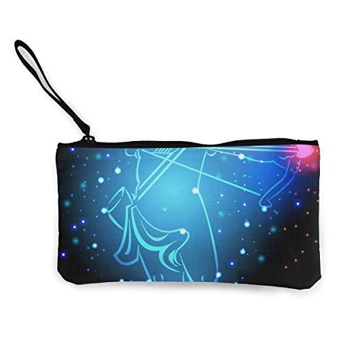 Azul Galaxy Cupido Arco Flecha Bolso de Compras Negro para Mujer Monedero Monedero Bolso de Maquillaje Bolso de lápiz para camada Niñas Estudiante