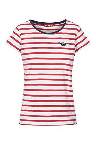 Derbe T-Shirt Small Ship Rot Weiss Gestreift (rot/Weiss, s)