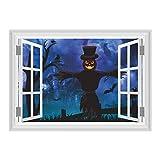 LQH 3D Halloween Ghost Castillo de Miedo espantapjaros Sala de Estar Decoracin Etiqueta de la Pared
