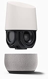 Google Home Wireless Voice Activated Speaker - White/Slate Fabric