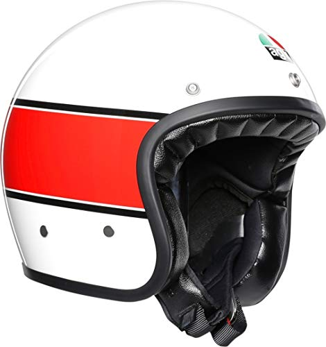 AGV CASCO X70 MULTI - MINO 73 WHITE/RED S