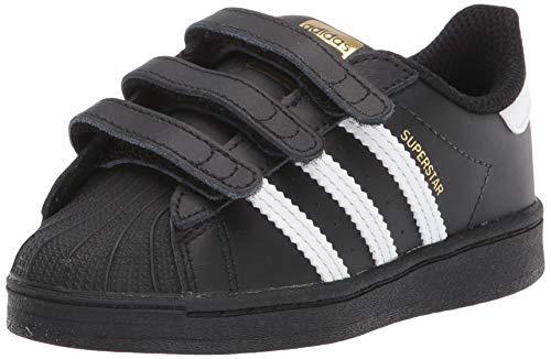 adidas Originals Superstars Running Shoe, White/Black, 3.5 Medium US Little Kid