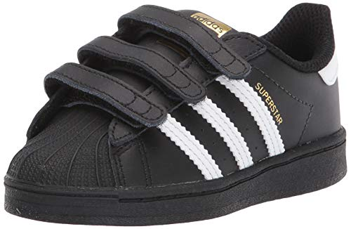 adidas Originals Superstars Running Shoe, White/Black, 3.5 Medium US Little Kid