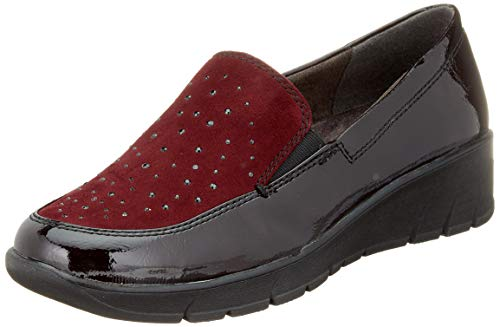 Jana 100% comfort Damen 8-8-24703-23 Slipper, Rot (Bordeaux 549), 39 EU