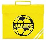 Personalisierbare Fußball-Schultasche für Kinder, Sportfuß-Design, Geschenk Mellow Yellow/Black Print Einheitsgröße
