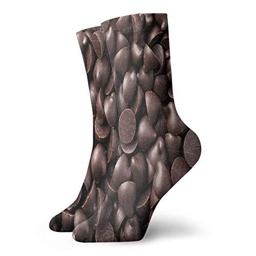 Calcetines suaves de media pantorrilla, para fotografía de alimentos de chips de chocolate, delicioso postre para hornear, impresión gourmet, calcetines para mujeres y hombres, mejor para correr
