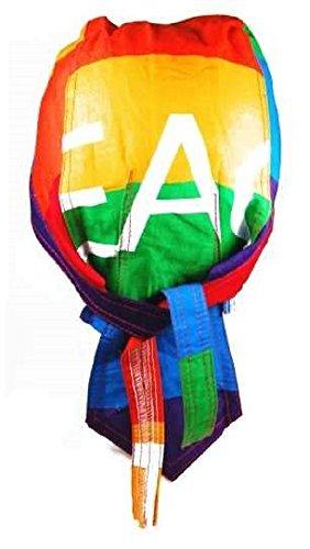 Bandana préformé Serrage Ajustable 100% Coton pour Motard, Paintball, Foot et Autres Sports - Peace