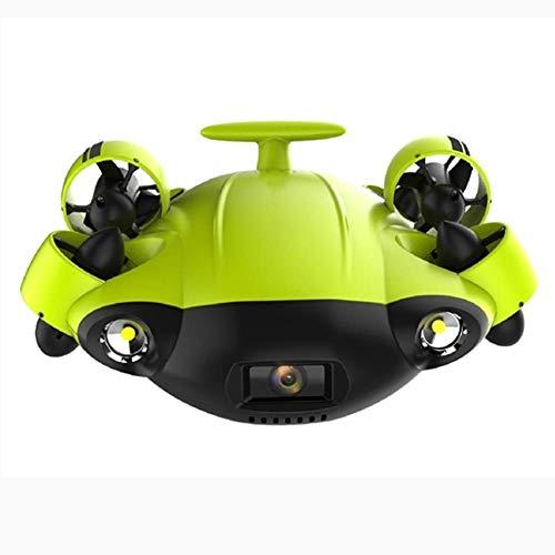 Cámara submarina para drones submarinos con gran angular 162? 6 Direcciones de movimiento 4K UHD 12 Mp 100 metros Cable de profundidad Gafas VR 64GB Grabación de video Foto Pesca Mundo submarino