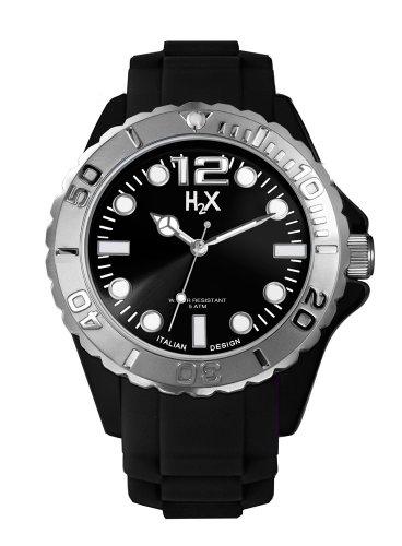Haurex Herren Analog Quarz Uhr mit Gummi Armband SN382UN3