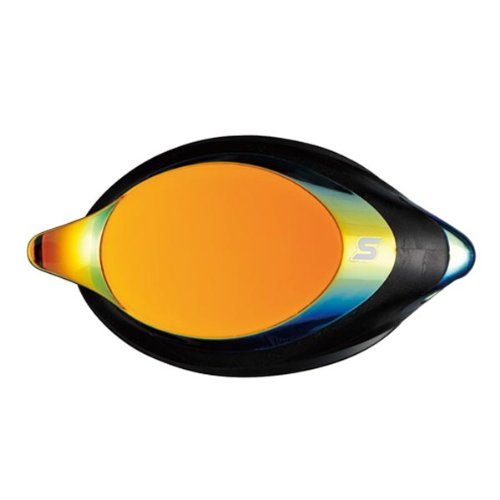SWANS optisches Glas für Schwimmbrille SRXCL-M Gold-verspiegelt, Sehstärke:-4.0