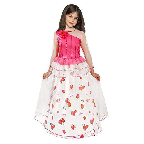 Ciao-Barbie Principessa del Regno delle Caramelle costume bambina, 3-4 anni, Bianco, Rosso, Rosa, 11664.3-4