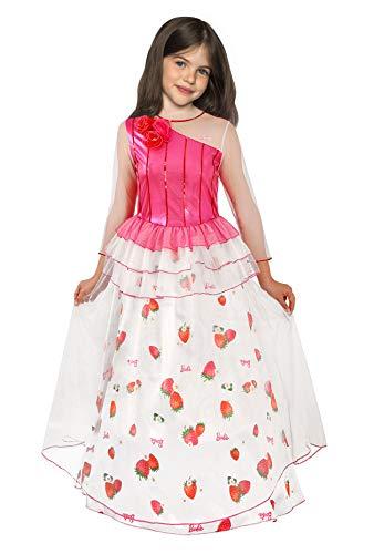 Barbie Princesa del Reino de caramelos disfraz de niña 3-4 anni Bianco, Rosso, Rosa