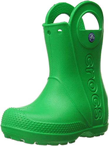 Crocs Handle It Rain Boot, Unisex - Kinder Gummistiefel, Grün (Grass Green), 28/29 EU