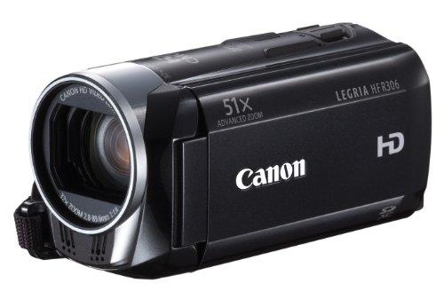 Canon LEGRIA HF R306 Full-HD Camcorder (HD-CMOS Sensor, 7,5cm (3 Zoll) Touch-LCD, 32-fach opt. Zoom, SDXC-Kartenslot, Intelligent IS) schwarz