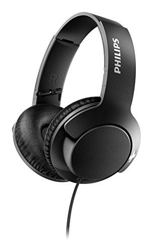 Philips SHL3175BK BASS+ Over-Ear Kopfhörer (mit Mikrofon, Fernbedienung, satter Bass, Freisprechfunktion) schwarz