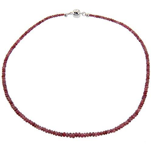Harry Ivens Halskette aus Silber 925 Magnetschließe mit Rubin rot für Damen