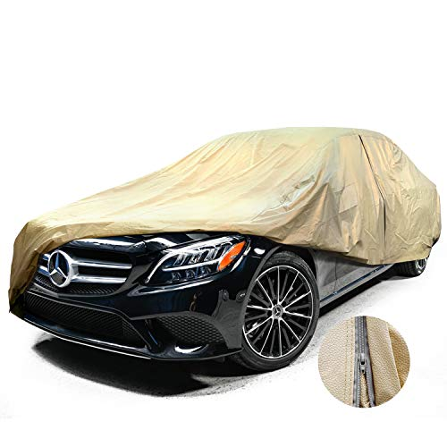 Leader Accessories Mid Grade Car Cover 100% Dustproof UV Ray Resistant Outdoor Full Car Cover Length Up To 228'